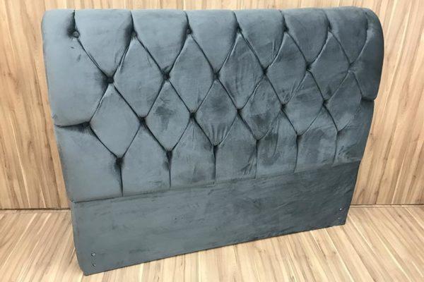 Cabeceira Casal Cinza 138 cm de Largura - Modelo Lavínia