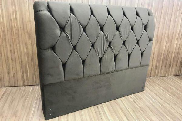 Cabeceira Casal Marrom 138 cm de Largura - Modelo Lavínia