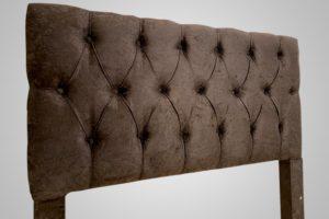 Cabeceira Casal Marrom Suede 138cm de Largura Modelo Hera