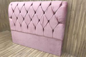 Cabeceira Casal Rosa 138 cm de Largura - Modelo Lavínia