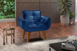 Poltrona Azul - Modelo Rebeca (1)