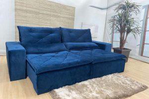 Sofá Retrátil Azul 2.30 m de Largura- Modelo 333