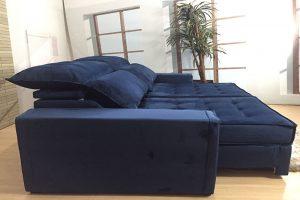 Sofá Retrátil Azul 2.30 m de Largura - Modelo Turquia- Promoção