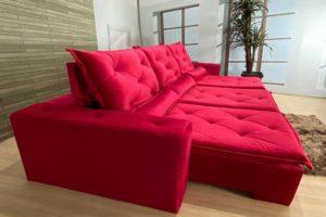 Sofá Retrátil Vermelho 2.90 m de Largura – Modelo 335-
