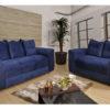 Sofá de 2 e 3 Azul Lugares 1,40cm de Largura Modelo Porto