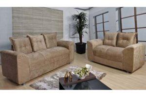 Sofá de 2 e 3 Bege Lugares 1,40cm de Largura Modelo Porto
