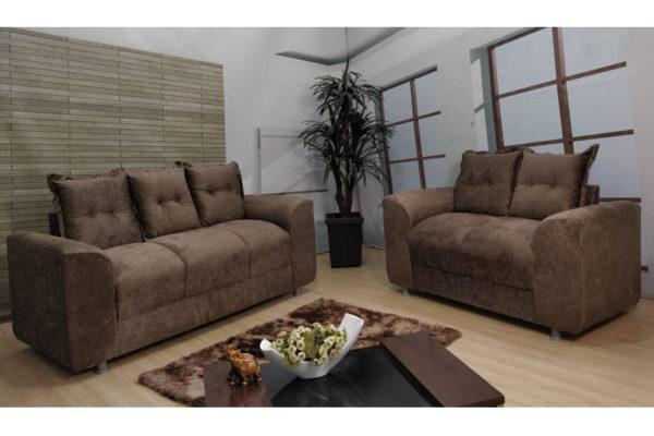 Sofá de 2 e 3 Marrom Lugares 1,40cm de Largura Modelo Porto