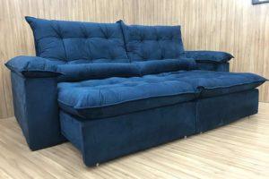 Sofá Retrátil 1.90 m - Modelo Campinas - Azul 325