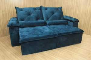 Sofá Retrátil 1.90 m - Modelo Zuqui - Azul 506