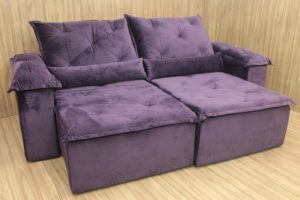 Sofá Retrátil 1.90 m - Modelo Zuqui - Violeta 6