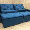 Sofá Retrátil 2.10 m - Modelo Esplendor - Azul 506
