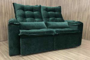 Sofá Retrátil 2.30 m - Modelo Florença - Verde 324