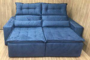 Sofá Retrátil 2.30 m - Modelo Império - Azul 35