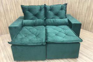 Sofá Retrátil 2.90 m - Modelo Portela - Verde Musgo 505