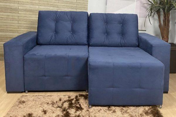 Sofá Retrátil Azul 1.80 m de Largura - Modelo Malibu