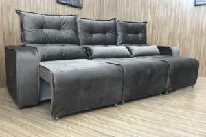 Sofá Retrátil Cinza 2.50 m de Largura - Modelo Alice