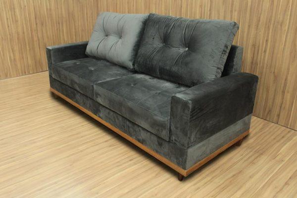 Sofá de 2 Lugares Cinza 2,15 m de Largura - Modelo Milena