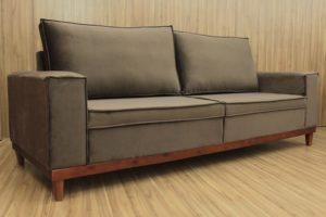 Sofá de 3 Lugares Marrom 2,15 m de Largura - Modelo Natália