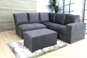 Sofa de Canto Cinza Anetho (1)