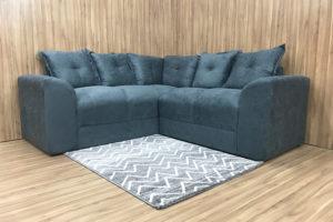 Sofá de Canto - Modelo Belo - Cinza Escuro 606
